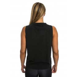 Training muscle tank black SNATCH for women - NORTHERN SPIRIT