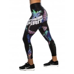 Training legging multicolor ANANAS for women - NORTHERN SPIRIT