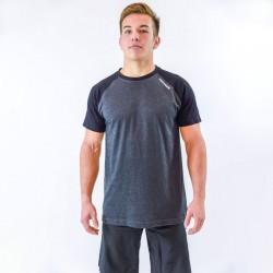 T-shirt homme bicolore gris manches noires pour athlète by THORUS