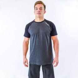 T-shirt men bicolor grey black sleeves by THORUS wear