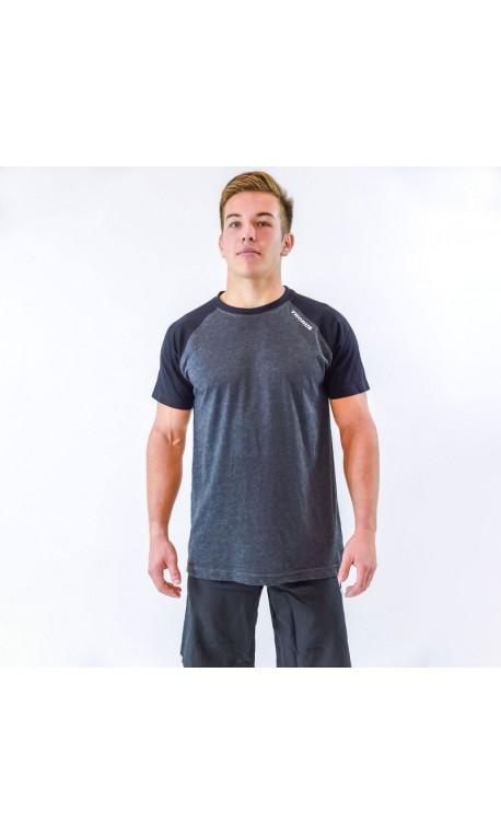 T-shirt Homme bicolore noir et gris  THORUS