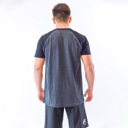T-shirt men bicolor grey black sleeves by THORUS wear
