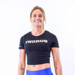 T-shirt court femme noir pour athlète by THORUS WEAR