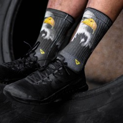 Black workout Socks EAGLE - LITHE APPAREL