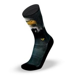 Chaussettes Noires EAGLE  pour athlète by LITHE APPAREL