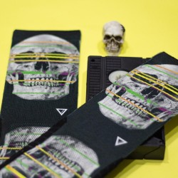 Black workout Socks X RAY SKULL - LITHE APPAREL