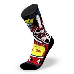 Black workout Socks NO FACE KING - LITHE APPAREL