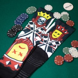 Black workout Socks NO FACE KING - LITHE APPAREL