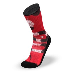 Chaussettes Red SNAKE pour athlète by LITHE APPAREL