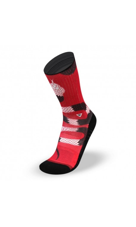 100% genuine new products online retailer Red workout Socks SNAKE - LITHE APPAREL