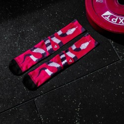 Red workout Socks SNAKE - LITHE APPAREL