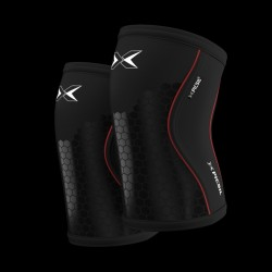 7 mm pair of Knee Black Hex Tech - PICSIL