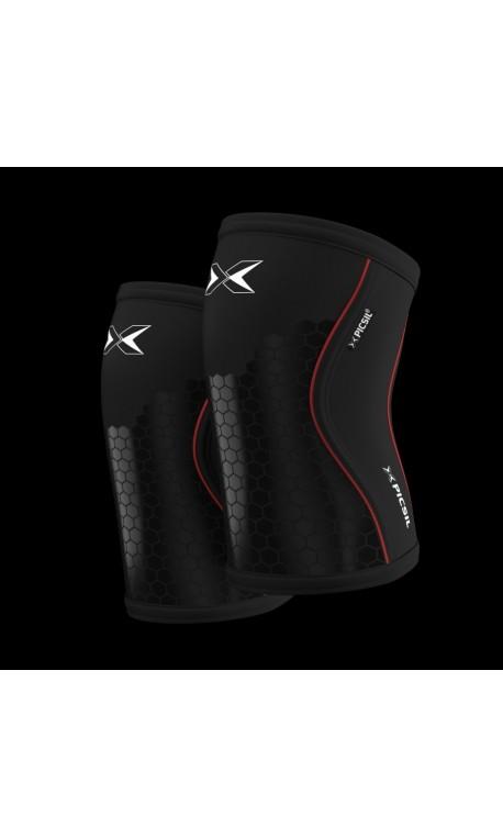 c8bfa91a20 Unisex 7 mm pair of Knee sleeves PICSIL Black Hex Tech Model