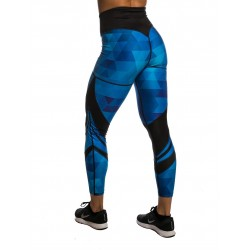 Legging 7/8 taille haute femme ARMOUR bleu pour Athlète by NORTHERN SPIRIT