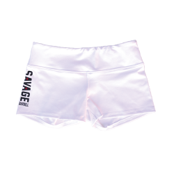 "Short femme blanc""WHITE"" SAVAGE BARBELL"