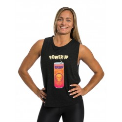 Training muscle tank black POWER UP for women - NORTHERN SPIRIT