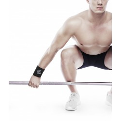 Unisex Elastic Wrist Wraps Black - REHBAND