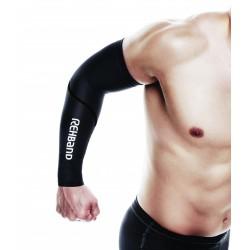 Compression arm sleeves black  - REHBAND
