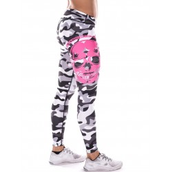 Training legging grey camo SKULL for women - NORTHERN SPIRIT
