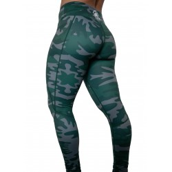"Legging femme vert ""Can't see me"" pour athlète by FEED ME FIGHT ME"