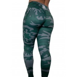 "Training legging black ""Can't see me"" for women - FEED ME FIGHT ME"