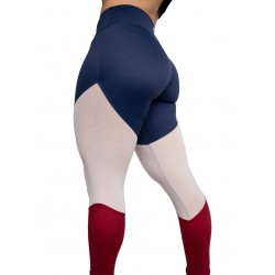 "Training legging multicolor ""HI"" for women - FEED ME FIGHT ME"