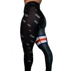 "Training legging grey ""Warbird"" for women - FEED ME FIGHT ME"