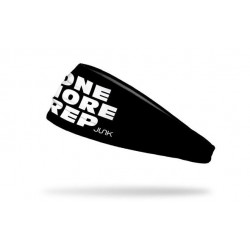Black workout elastic headband ONE MORE REP - JUNK