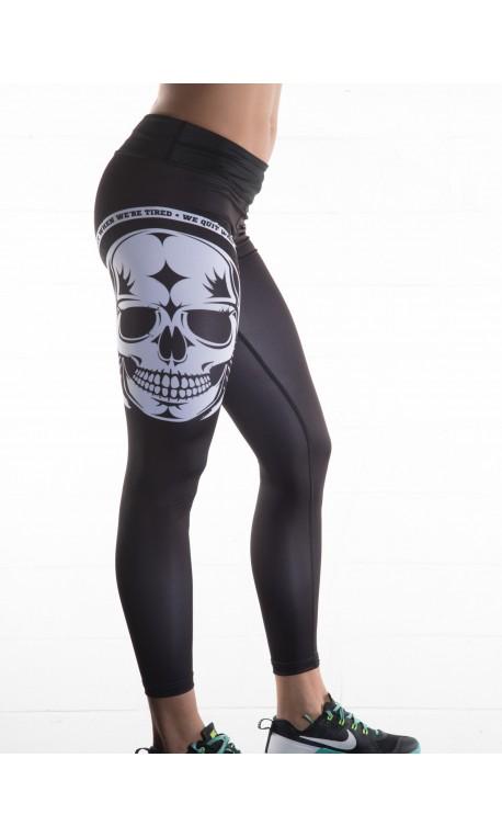 Boutique Legging noir Femme Crossfit - white skull