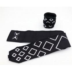 Bandes de poignets - Wrist Wraps Noir motif carrés pour athlète by PICSIL