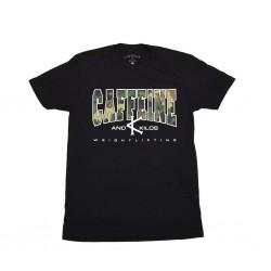 T-shirt Homme noir CAMO WEIGHTLIFTING T pour Athlète - CAFFEINE & KILOS