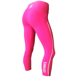 Legging femme rose ATOMIC RASPBERRY pour athlète by SAVAGE BARBELL