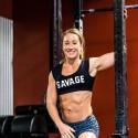 Training short grey DARK LEOPARD for women - SAVAGE BARBELL