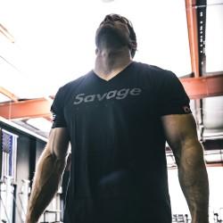 T-shirt BLACK ON BLACK for men - SAVAGE BARBELL