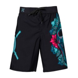 Training Ultra Light short black SKULL FLOWERS for men - XOOM PROJECT