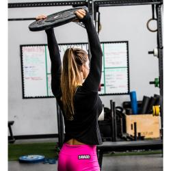 Training cross longsleeve T-shirt BLACK for women - SAVAGE BARBELL