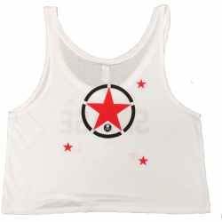 Training crop top STARRY EYES white for women - SAVAGE BARBELL