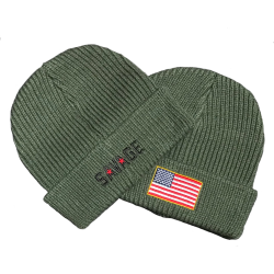 Army Green Beanie - SAVAGE BARBELL