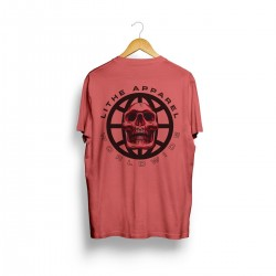 T-shirt red WORLDWIDE SKULL for men - LITHE APPAREL