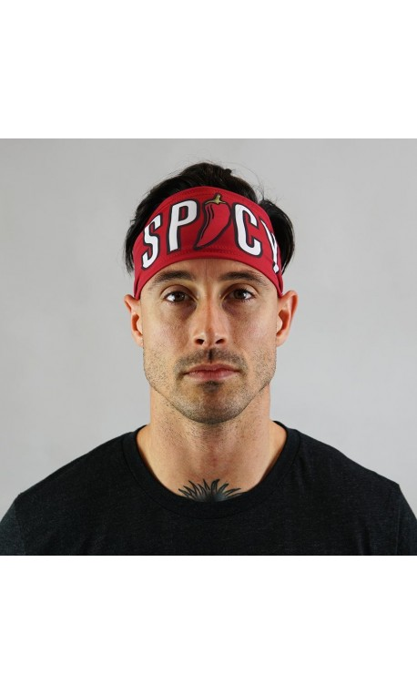 Red workout headband SPICY - WODABLE