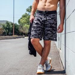 Short homme gris camo NIGHT OPS pour athlète by ROKFIT