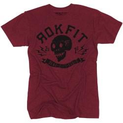 T-Shirt Homme Rouge DEADLIFT SQUAD pour Athlète by ROKFIT