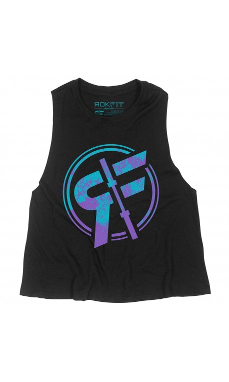 Training muscle tank black THE OFF ROAD for women - ROKFIT