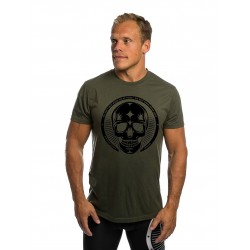 T-shirt green SKULL for men - NORTHERN SPIRIT