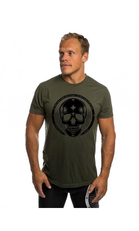 T-shirt green SKULL for men - NORTHERN SPIRIT