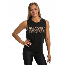 Muscle tank Femme Noir LEOPARD pour athlète by NORTHERN SPIRIT