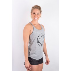 Training tank light grey UNICORN for women - URBAN CROSS
