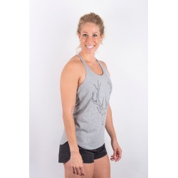 Training tank light grey POLYGON DEER for women - URBAN CROSS