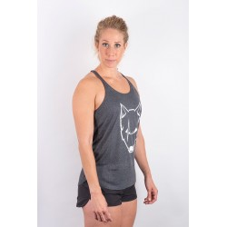 Training tank dark grey SCARRED WOLF for women - URBAN CROSS