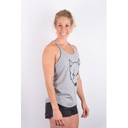 Training tank light grey SCARRED WOLF for women - URBAN CROSS